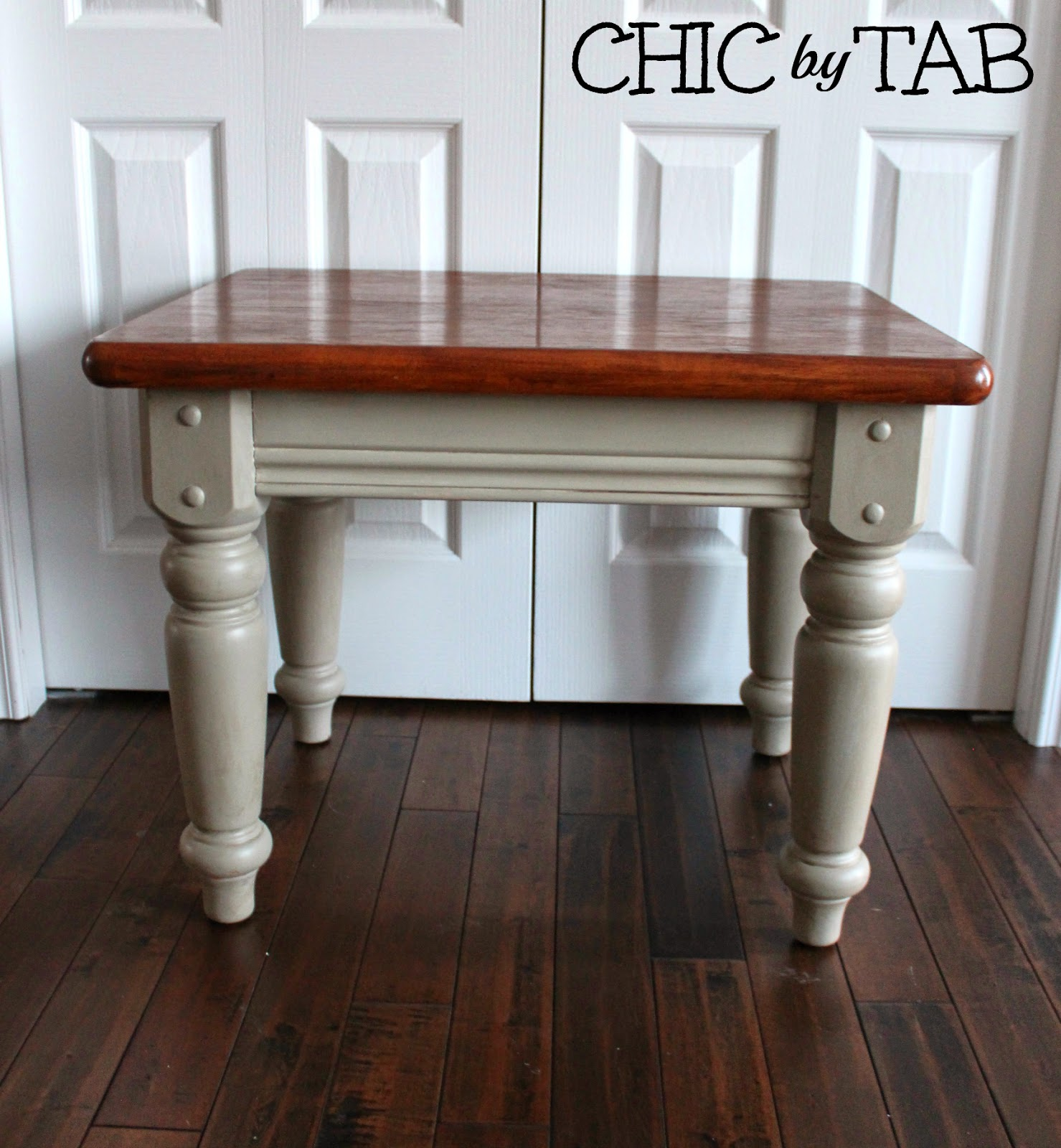 French Linen Chalk Paint Coffee Table: {ChicByTab}: Coffee Table Make-Over #2