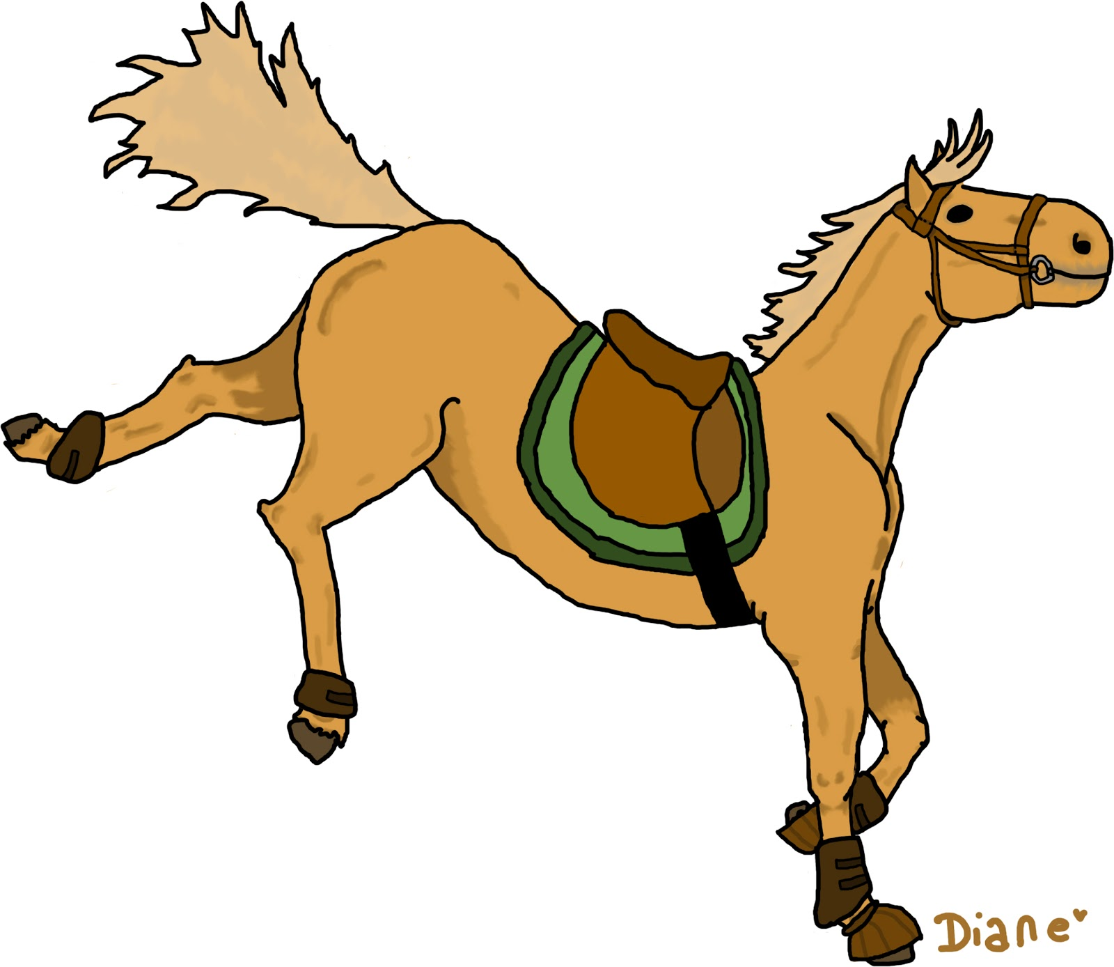 Les cr a 39 de diane - Tchoupi et le cheval ...