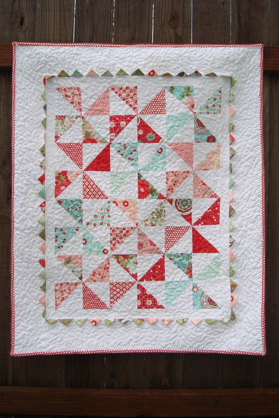 Christine s favorite things bliss pinwheel baby quilt