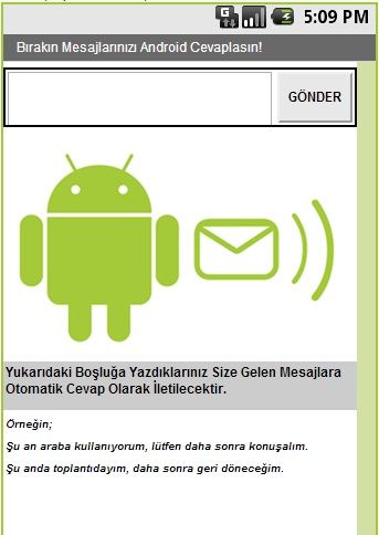 Android Otomatik SMS Gönderme Programı