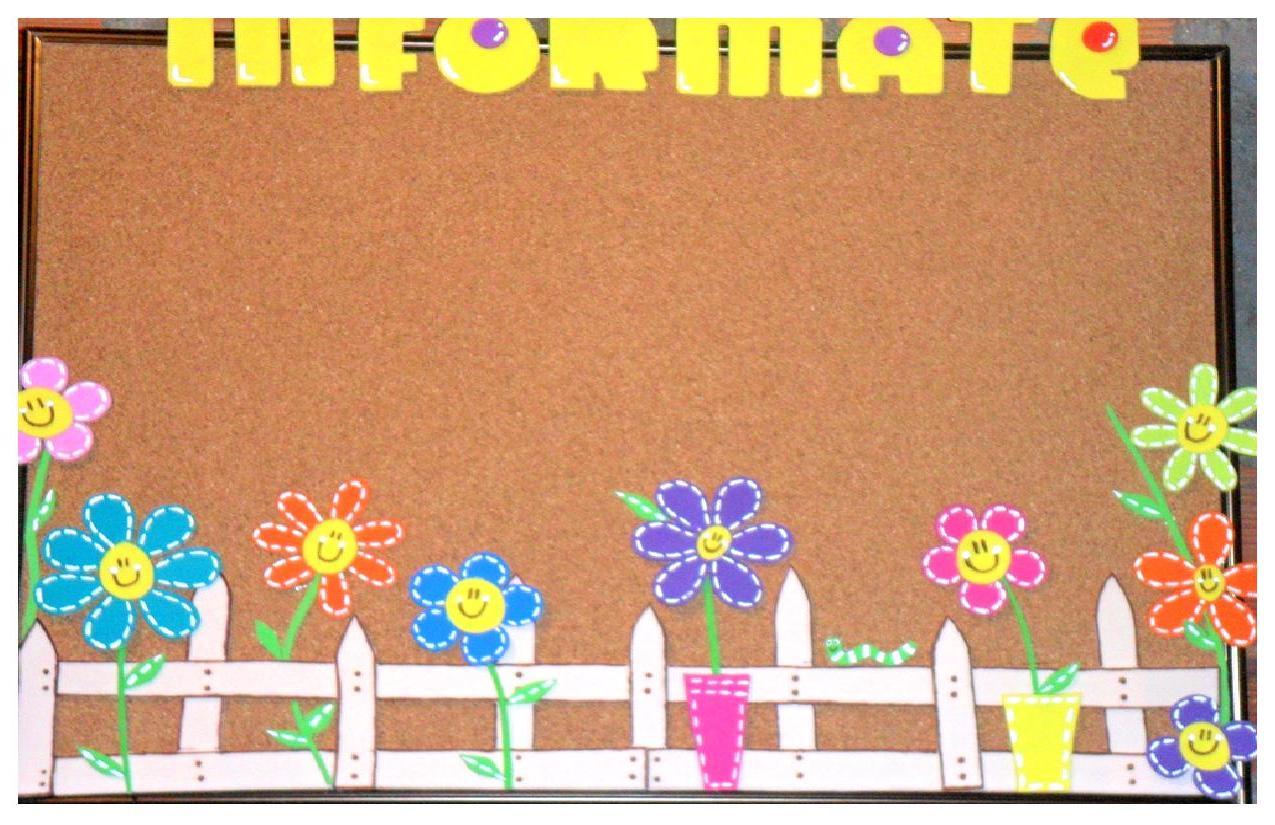 Flores para decorar carteleras imagui for Modelos de carteleras escolares