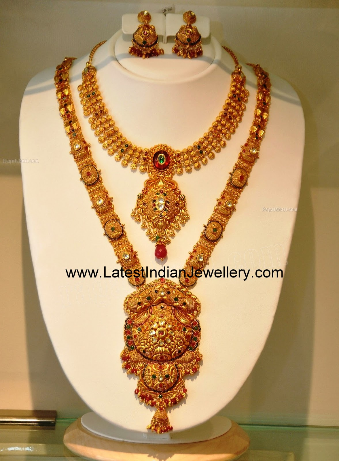 Latest Gold Bridal Jewellery Sets with Long and Short Necklaces to ...