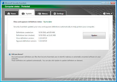 Chrome - problemi s Microsoft Security Essentials