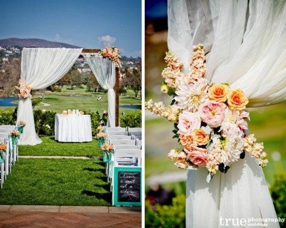 Wedding inspiration an outdoor ceremony aisle wedding for Backyard wedding ceremony decoration ideas