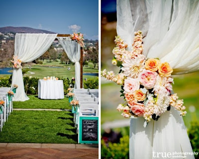 Wedding Inspiration An Outdoor Ceremony Aisle Wedding Bells