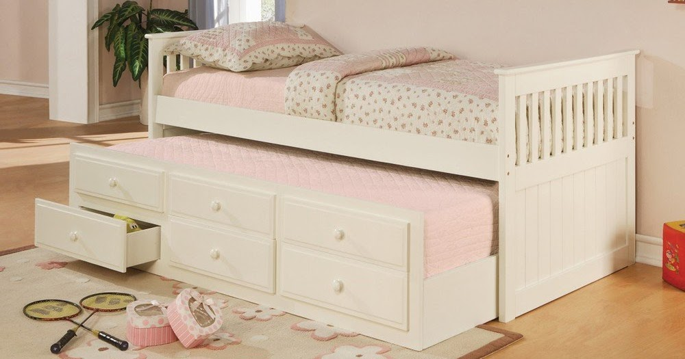 Total fab twin bed with pull out slide out trundle bed underneath best beds for small - Best beds for small spaces image ...