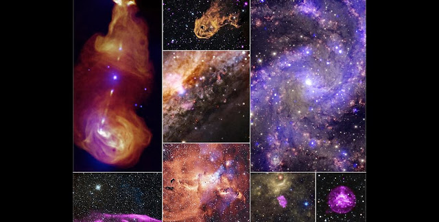 Collage: NASA's Chandra X-ray Observatory has released eight never-before-seen images from its archive. The Chandra Data Archive plays a central role in the Chandra mission by enabling the astronomical community. Image Credit: NASA/CXC/SAO