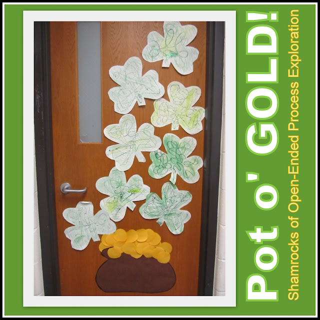 photo of: St. Patrick's Day Classroom Door Decoration at RainbowsWithinReach