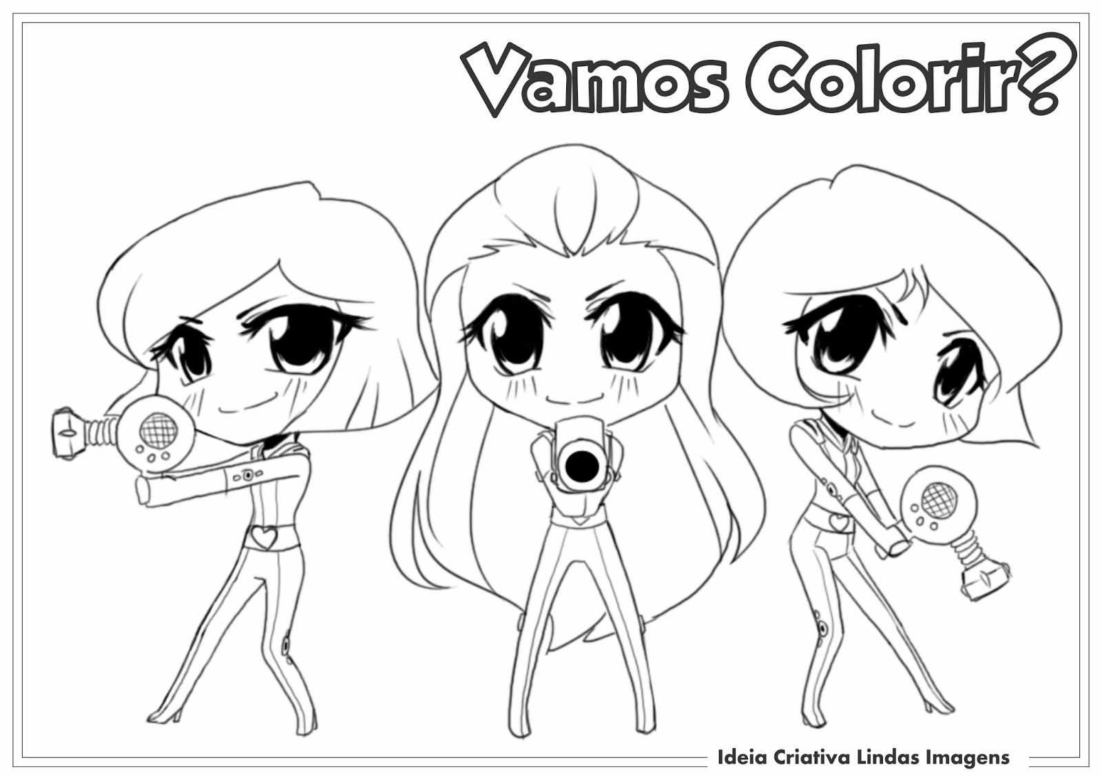 Desenho para colorir Três Espiãs Demais