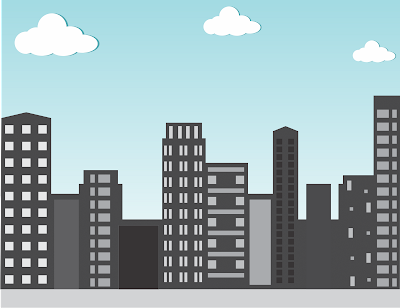 Skyline building vector illustrator