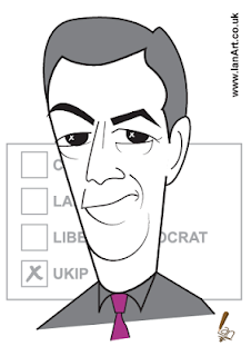 Nigel Farage UKIP Leader caricature