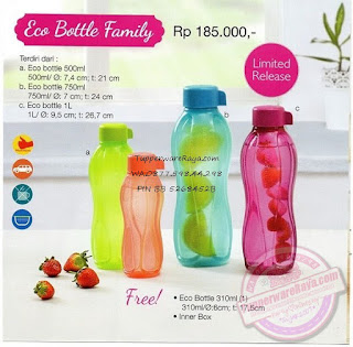 Promo Tupperware Juli 2015 Eco Bottle Family