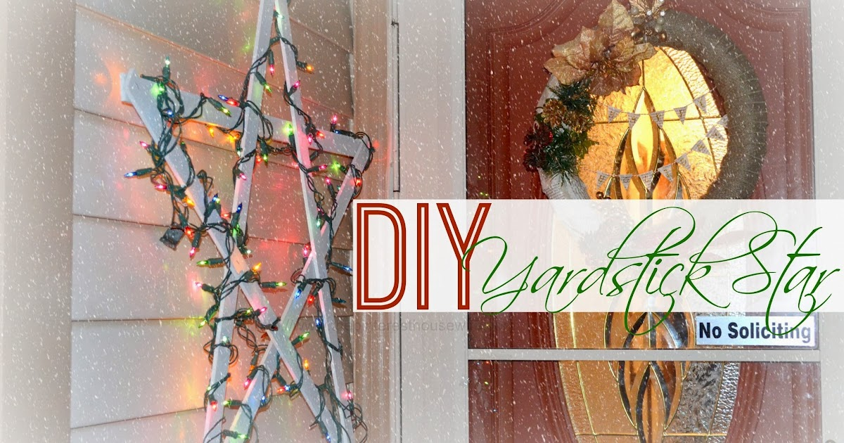The pinterest housewife diy yardstick star inexpensive for Home depot christmas decorations 2013