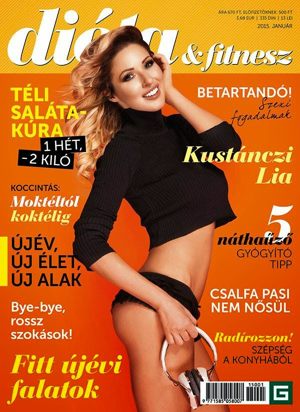 Kustanczi Linda - Dieta & Fitnesz, Hungary, January 2015