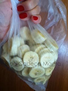 Banana para o preparo de sorvete de banana - Blog Cabeça Magra
