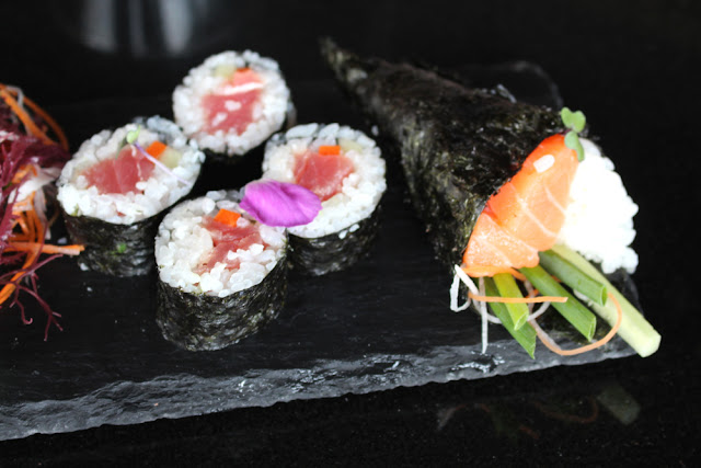 Sushi for lunch at Paresa, Phuket, Thailand - travel blog