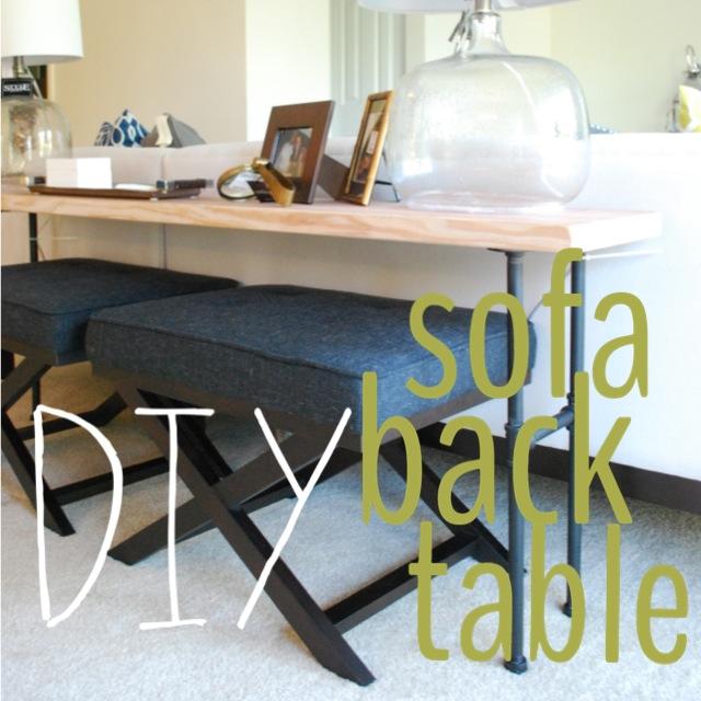 Brass Jones DIY Industrial Sofa Back Table