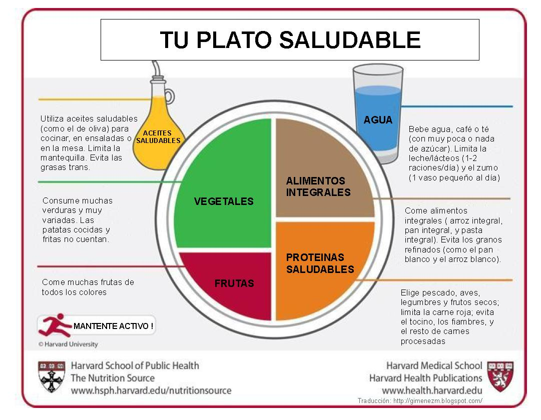 Nutrisfera my plate vs the healthy eating plate en este enlace podis leer mas ampliamente la modificacin y abajo tenis la traduccin de the healthy eating plate tu plato saludable pooptronica Gallery