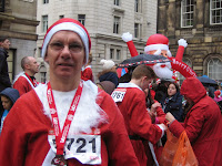 Image of Pete after Liverpool Santa Dash 2013