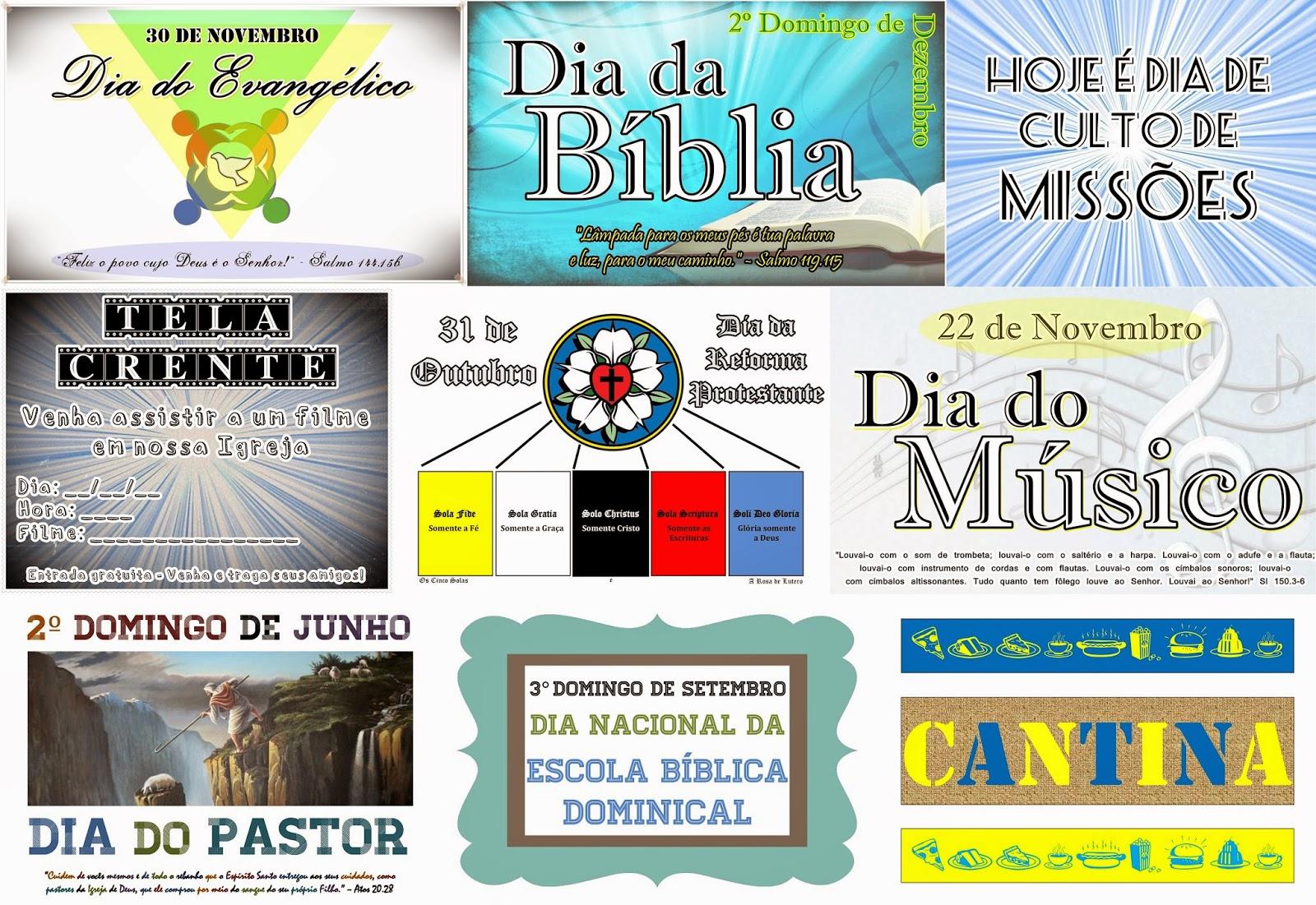 Super Arsenal do Crente: Cartazes de Datas Comemorativas para igrejas  CB56