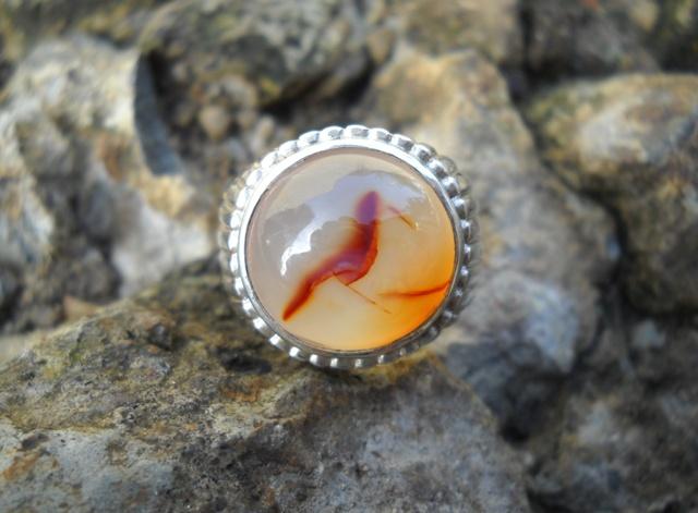 Koleksi Batu Antik: BG133- Batu Gambar Burung Anis Merah...SOLD