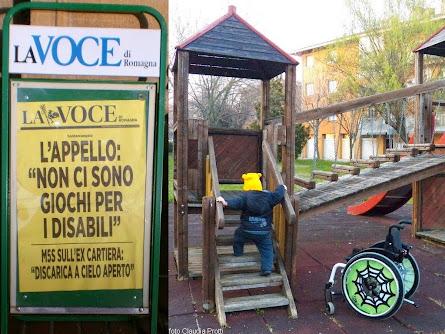 il blog un truciolo in questo modo sostiene la campagna per un parco giochi aperto a tutti