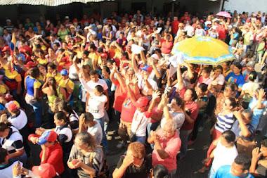 Maquinaria roja ratificó en el cierre de campaña el compromiso revolucionario