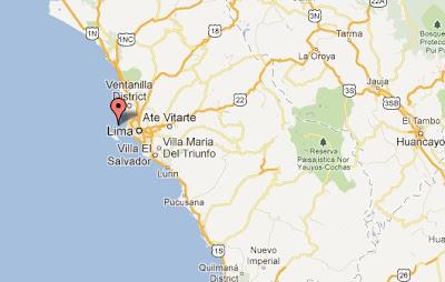 mapa epicentro temblor en lima hoy 29 de julio 2012