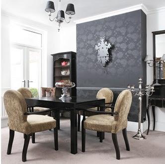 Decora y disena decorando el comedor con el vers til for Comedor negro con gris