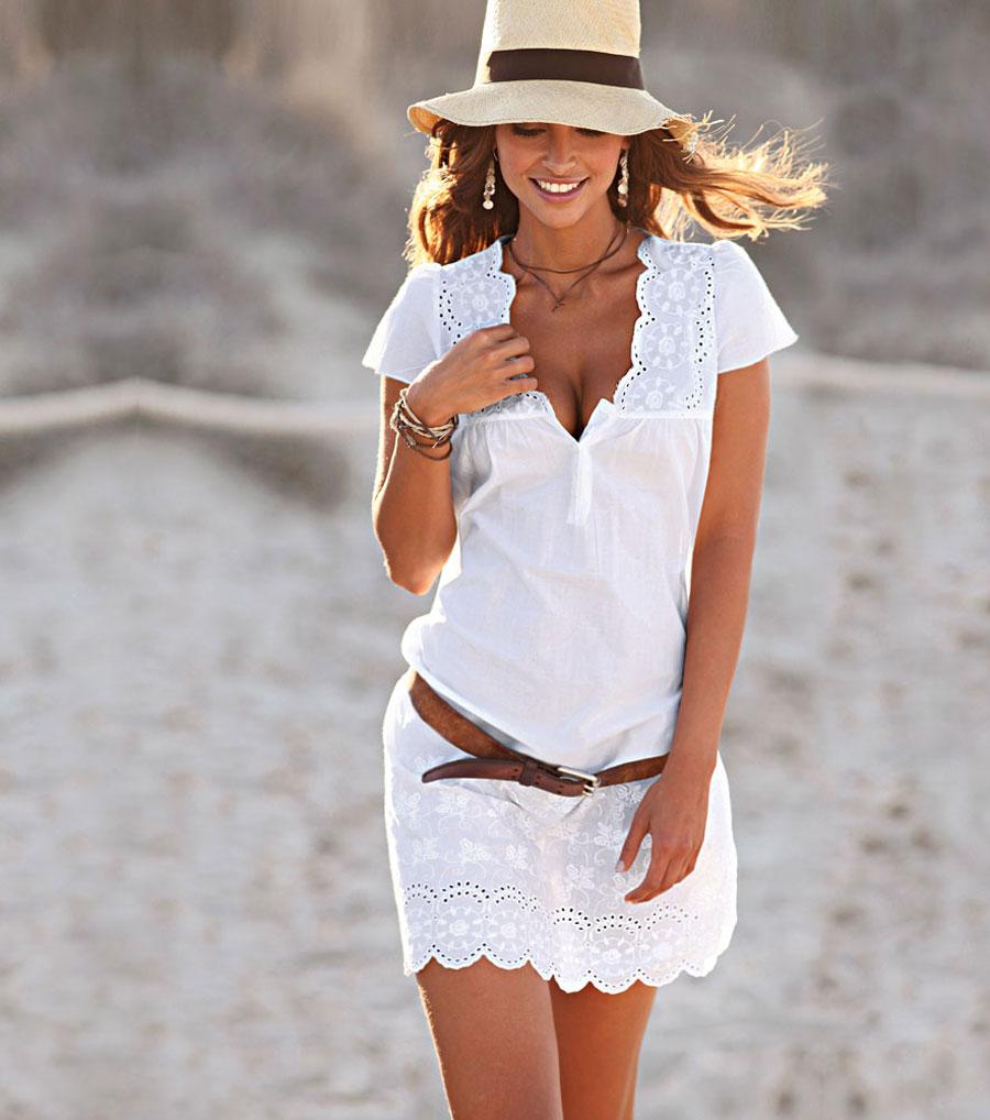 Si tu quieres tener un día de playa y quieres usar un vestido blanco
