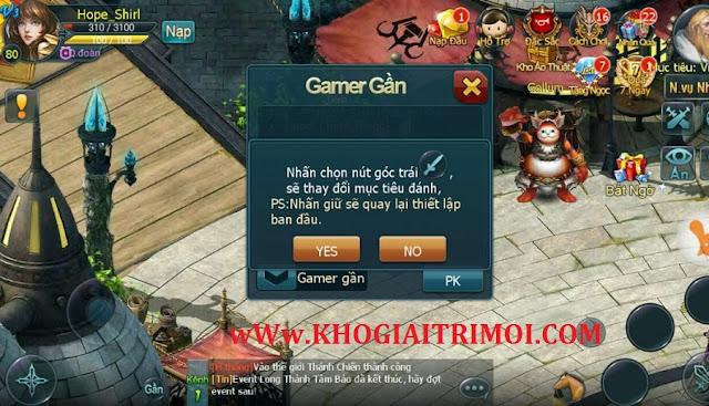Tìm hiểu nút PK sướng trong game Holy War