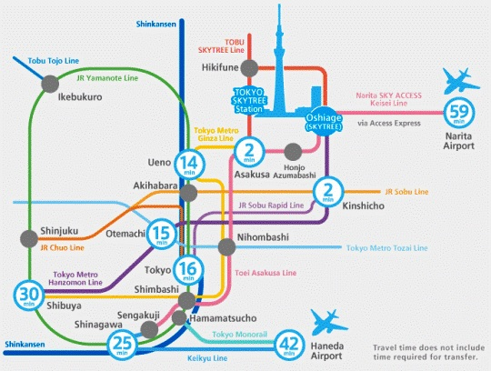 tokyo sky tree train map