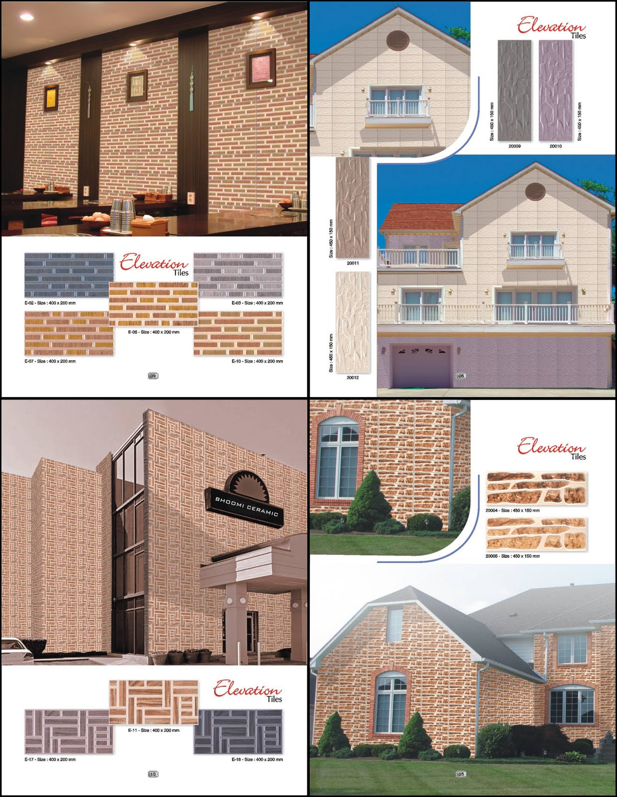 Elevation Wooden Tiles : Bhoomi ceramic elevation tiles natural wooden