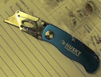 open Husky assisted utility knife