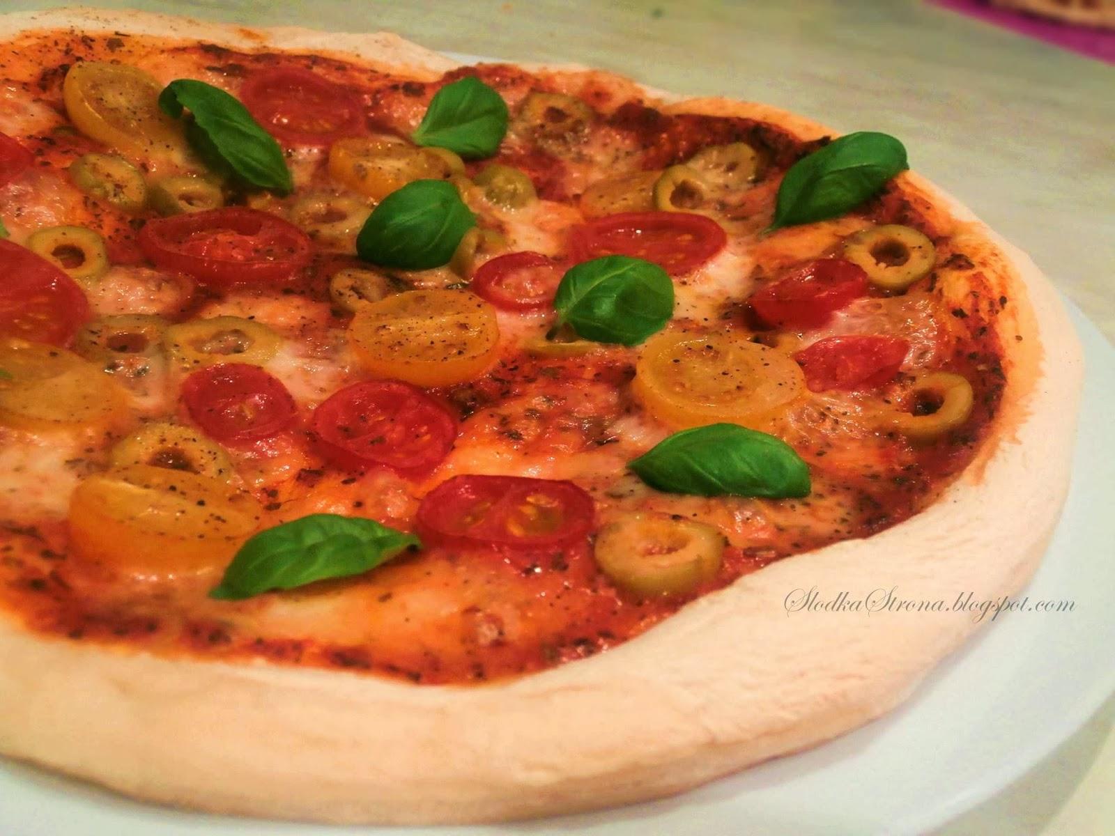 Oryginalna Włoska Pizza - Margherita - Przepis - Słodka Strona