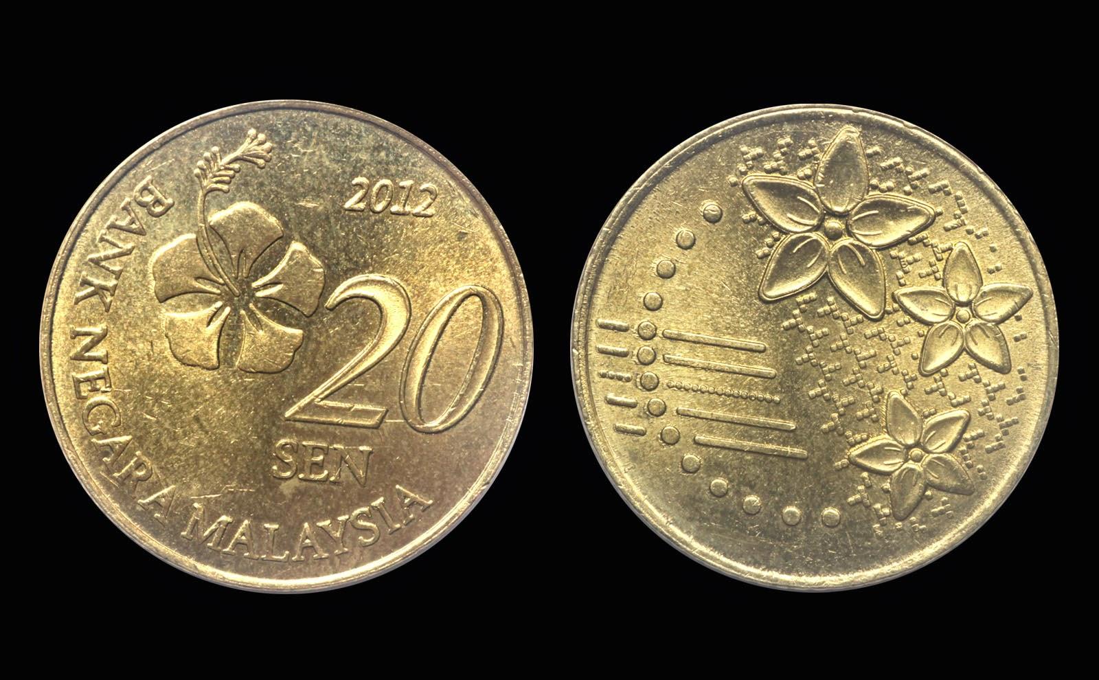 Malaysia 20 sen 2012 coin