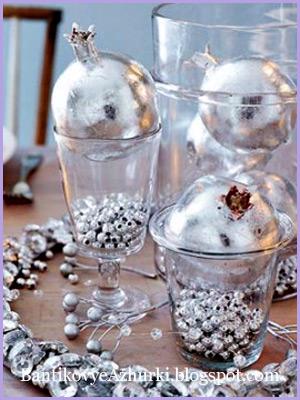 бусы для декора новогоднего стола