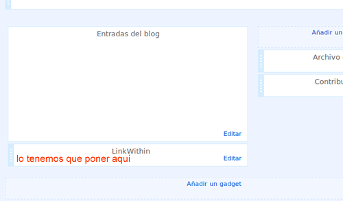 links sugeridos blogger