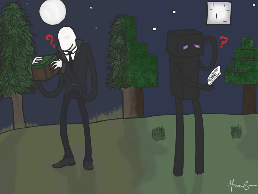 fear of slender enderman o primo maldito do slenderman