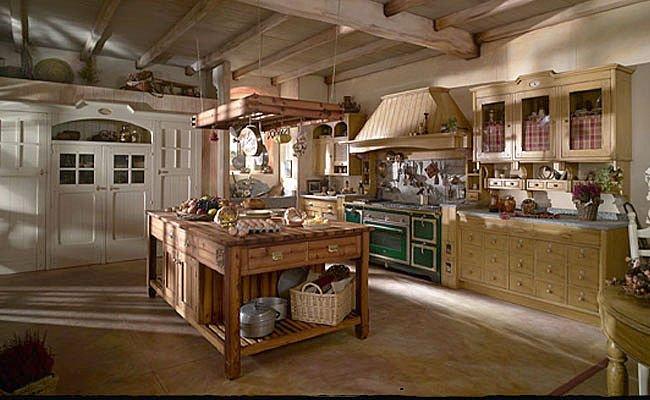 Cucina Ad Isola In Stile Moderno Con Camino A Gas Interior Design ...