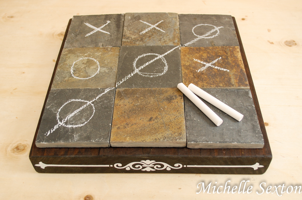 DIY Coffee Table Tic Tac Toe Board - click through and learn how to make this