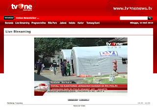 Live Streaming dari TVOne