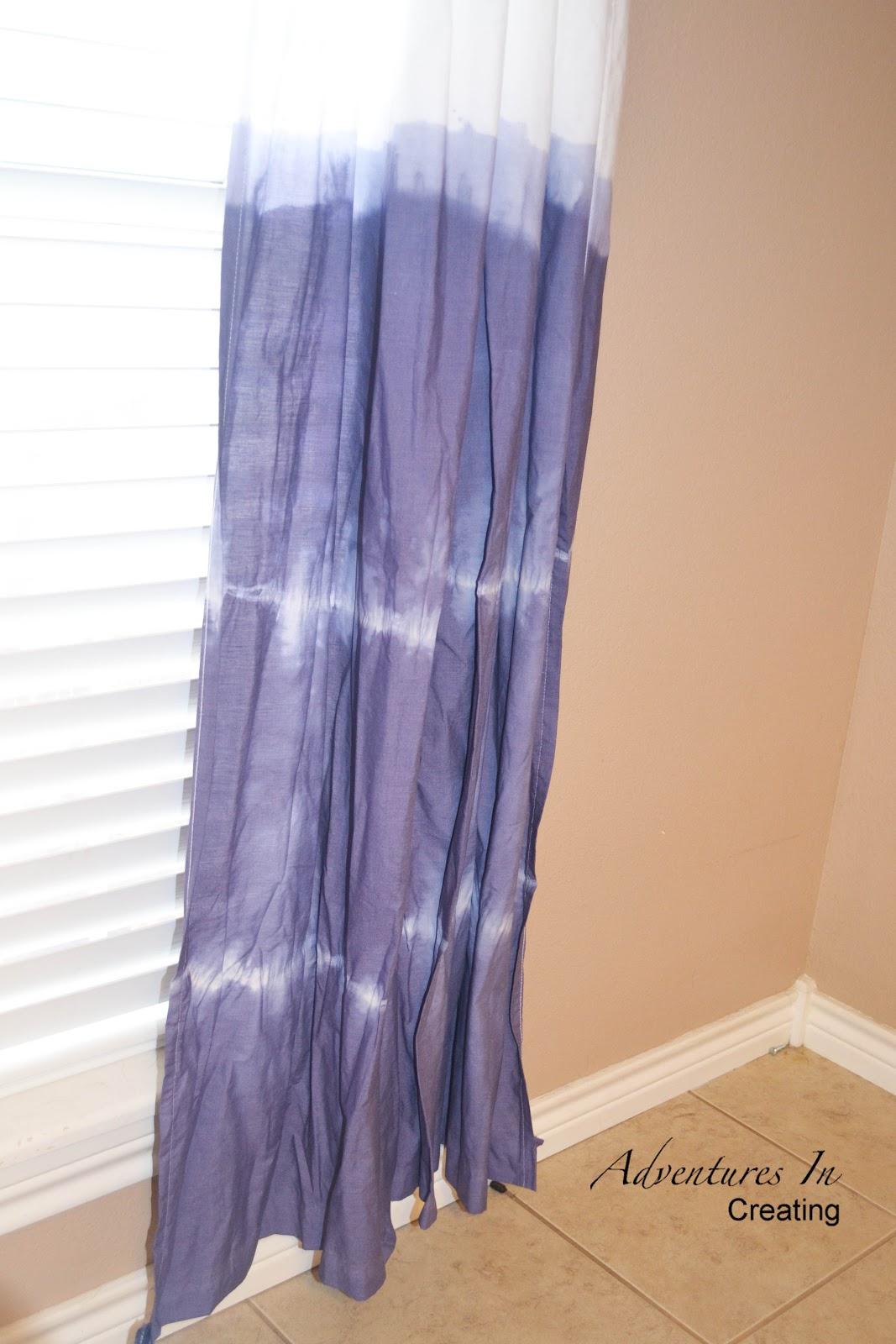 Adventures In Creating Easy Breezy Dip Dye Curtains