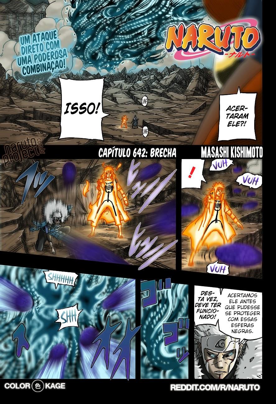 Naruto 642 Mangá Colorido em português leitura online