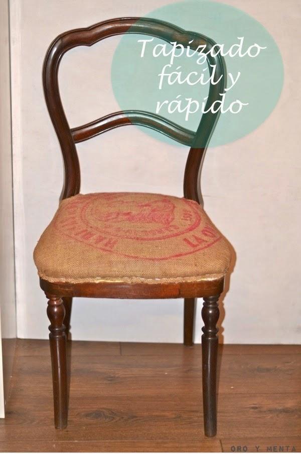 Oro y menta modo r pido y f cil de tapizar una silla - Grapadoras para tapizar ...