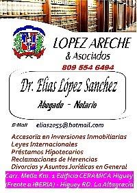 Dr. Elias López Areche su Abogado - Notario en Higuey - Bavaro
