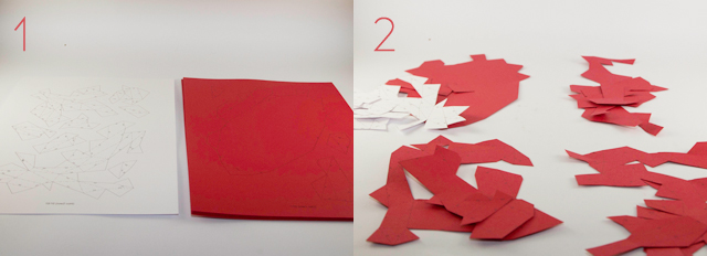 DIY Kuhkopf Papier Material