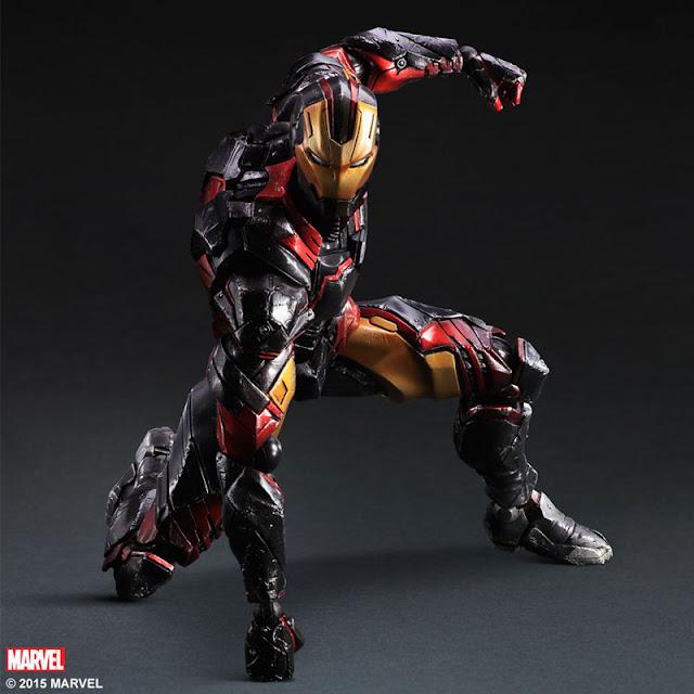 play arts kai iron man variant figure