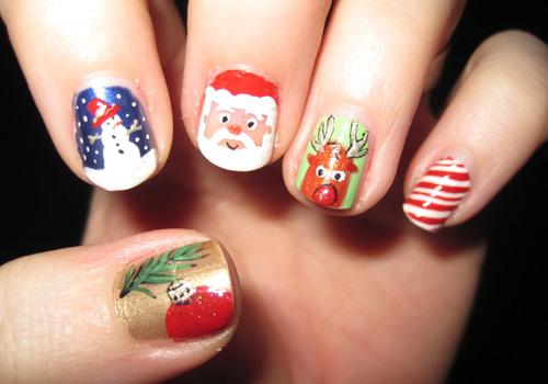 Uñas , Nails , Unhas para navidad 2015 , 2016