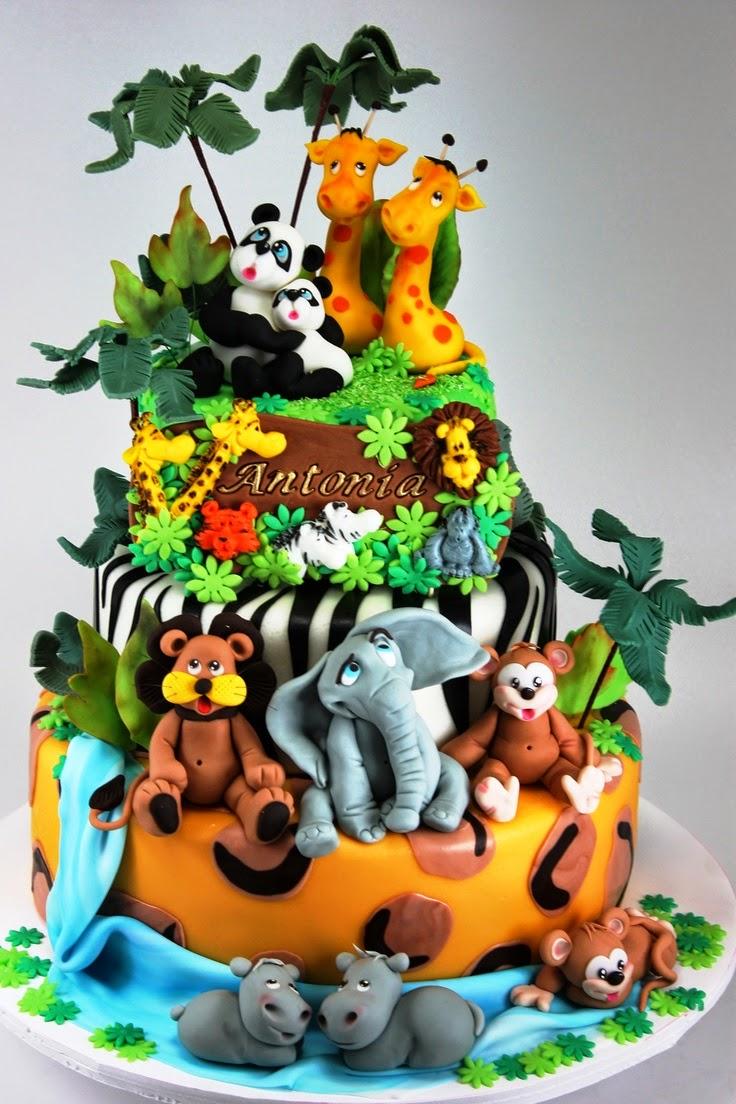 Tortas decoradas de la Jungla